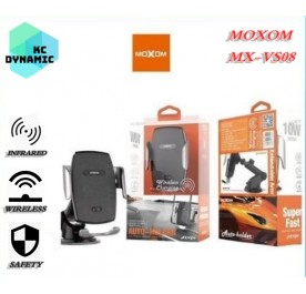 Moxom MX-VS08 Cyclops Infrared Sensing Auto Clamping Wireless Charging Car Mount Phone Holder
