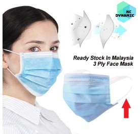 [ READY STOCK IN MALAYSIA] 50 PCS Disposable Melt-blown Non-woven 3Ply EAR LOOP Face Mask