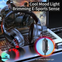 Awei ES-770i Head-mounted Wire Noise-Canceling Gaming Headset With LED Light Wire Control