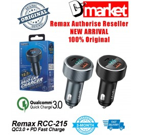 Original Remax RCC-215 QC3.0 + PD fast charge car charger USB Type-C with LED display