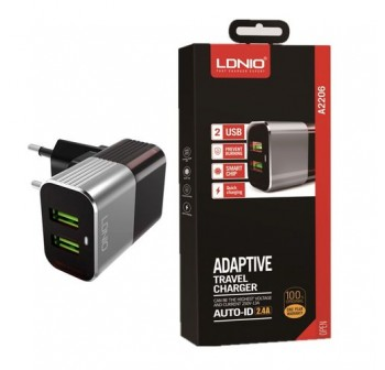 Original LDNIO A2206 2 USB Charger c/w cable