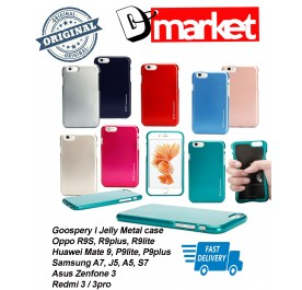 Goospery I Jelly metal Soft TPU case for Oppo, Huawei, Samsung, Asus, Xiaomi