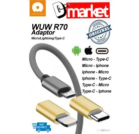 Original WUW R70 Micro adaptor Iphone adaptor lightning adaptor type-c adaptor