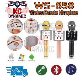 WS-858 Portable Wireless Micrphone with KTV Singing Function - KC DYNAMIC