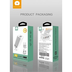 Original WUW C111 QC3.0 PD Fast charge 4 USB charger Qualcomm 3.0 Power Delivery