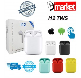 i12 TWS Bluetooth 5.0 with touch sensor