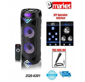 ZQS-6201 Bluetooth Speaker Strong Bass Strong Sound with Microphone