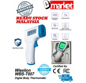 Ready Stock Malaysia Wiselion Thermometer WBS-T007 contactless Digital Thermometer