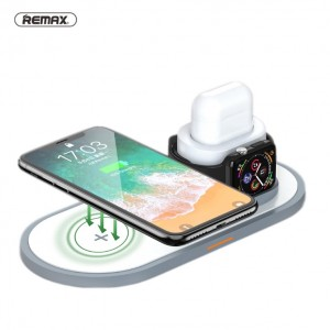 Original Remax RP-W13 3 in 1 LED display QI Wireless Charging base for Iphone Airpod Apple Watch iwatch