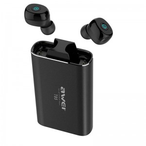 Original Awei T85 1800mAh Charging case Bluetooth 5.0 TWS Earphone with Power bank function